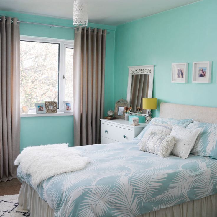 Our beachy Bedroom featured during our home tour on the Ideal Homes website