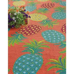 Company C Pineapples 10185 Coral Area Rug - 158103