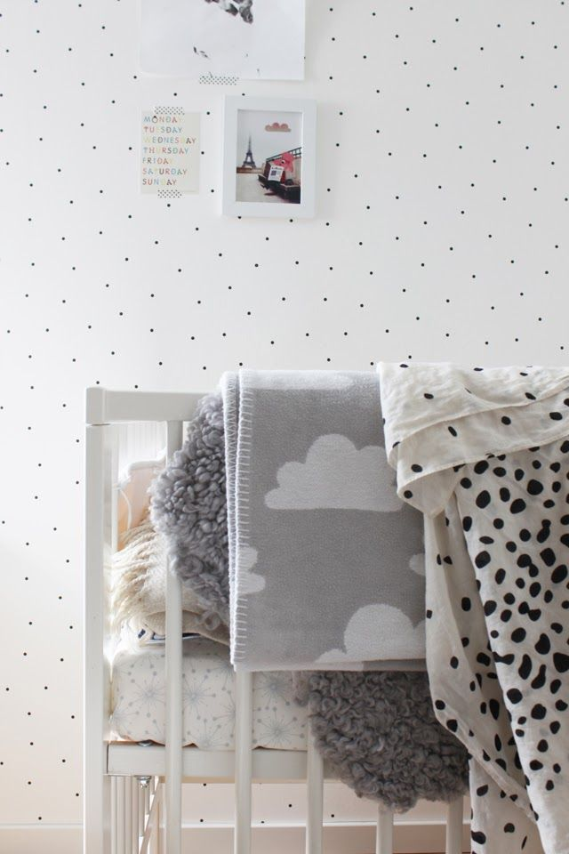 Zwart-wit kinderkamer // Black and white kids room (Mackapär)