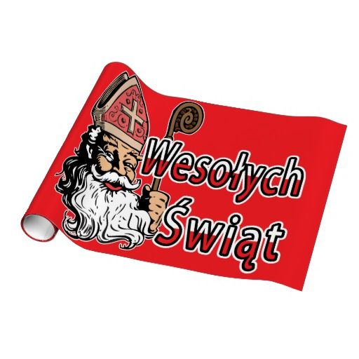 Wesolych Swiat St. Nicholas Wrapping Paper
