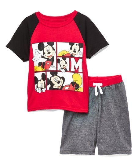 bb3f96ff Childrens Apparel Network Mickey Mouse Gray & Red Tee & Shorts - Toddler &  Boys | zulily