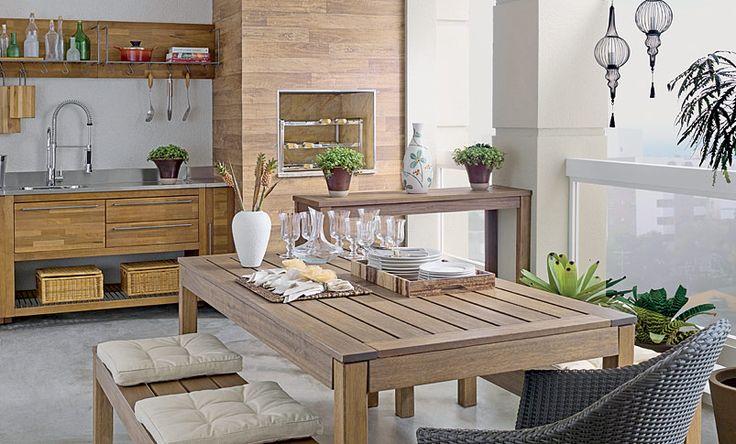 Jantar Tok  Transforme a varanda em um espaço gourmet com a cozinha assinada por Guilherme Bender