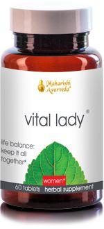 Vital Lady. Women's Health supplement from vpk, by Maharishi Ayurveda.