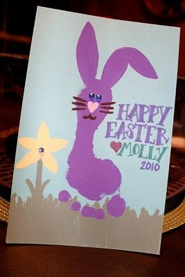 footprint bunny craft  |   Crafts and Worksheets for Preschool,Toddler and Kindergarten