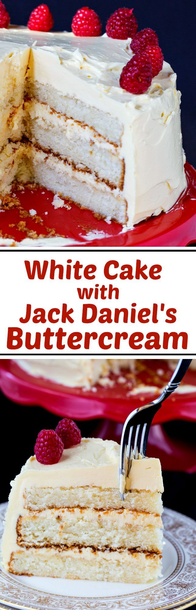 White Cake with Jack Daniel's Buttercream from The Pastry Queen Cookbook.
