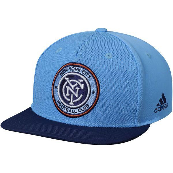 d84e88134fd Men s New York City FC adidas Light Blue Authentic Team Snapback Adjustable  Hat