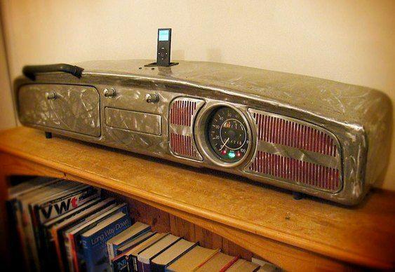 Painel de fusca - caixa acústica