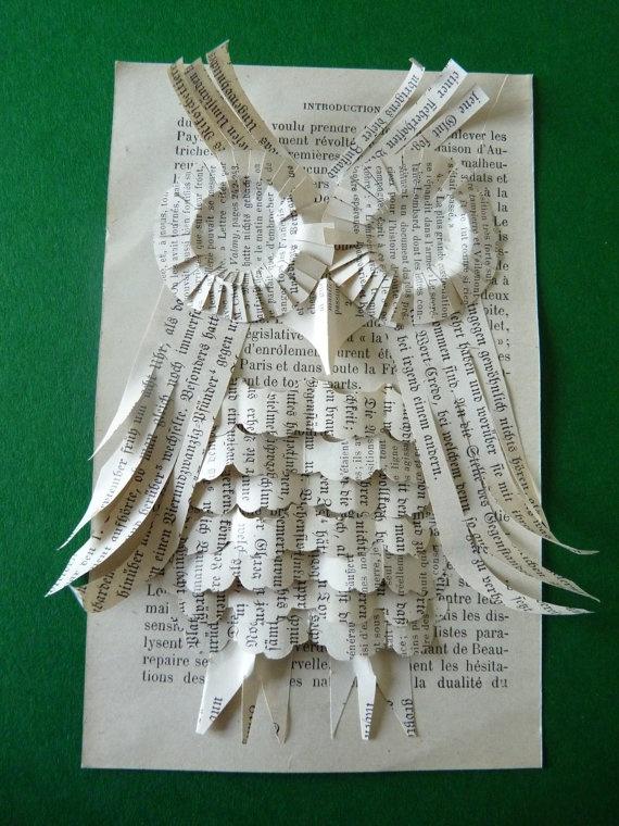 Book Art Owl £10