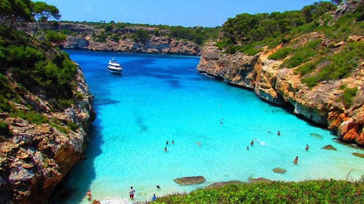Calo Des Moro Beach Is A Beautiful Beach With Views From The Top Of A Hill Which Is Very Biased