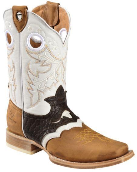Tanner Mark Rancho Semental Inlay Saddle Vamp Cowboy Boots