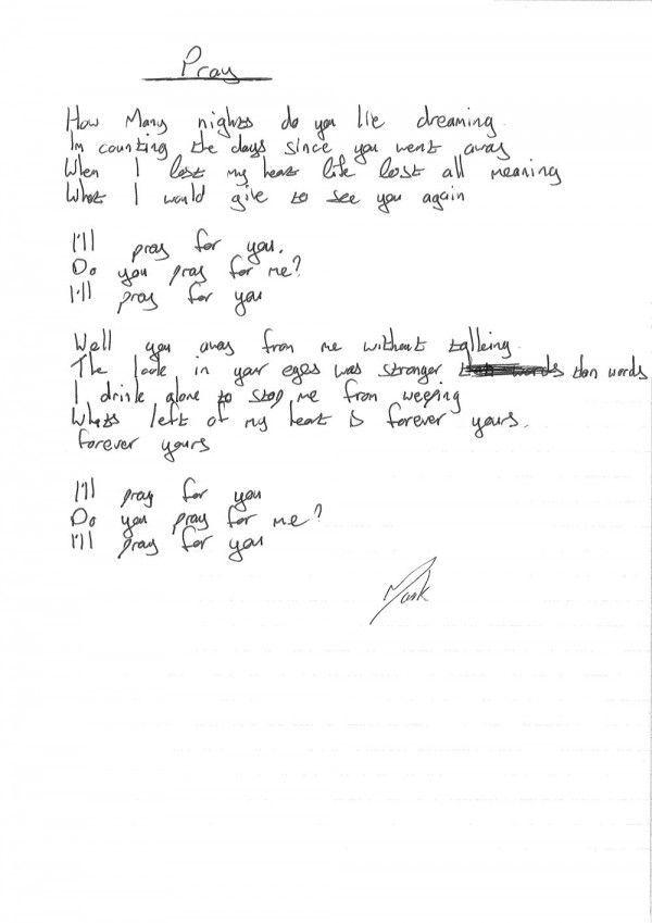 Pray - Kodaline #lyrics #handwrittenlyrics #digitalscrapbook