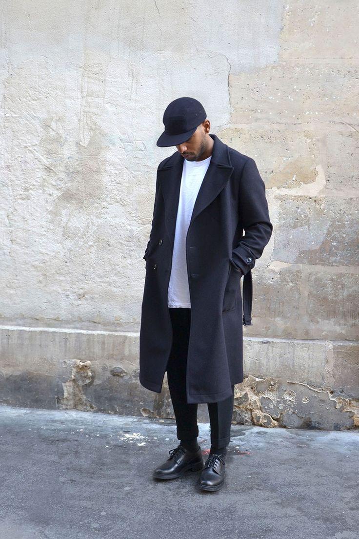 Dark blue coats for him