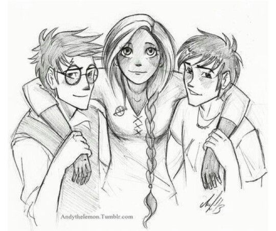 Percy Jackson Hermes Drawing Harry Potter, Katniss ...
