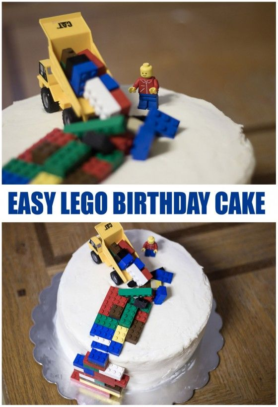 cake decorated with legos