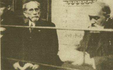 Charles Maurras et Maurice Pujo devant la Cour de Justice de Lyon.