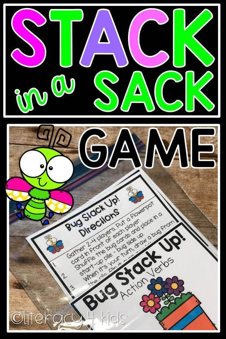 Stack In A Sack Action Verbs Game Bug Stack Up This Stack In A Sack Game Gives Your Students The Chanc First Grade Lessons Third Grade Lessons Action Verbs [ 1104 x 736 Pixel ]