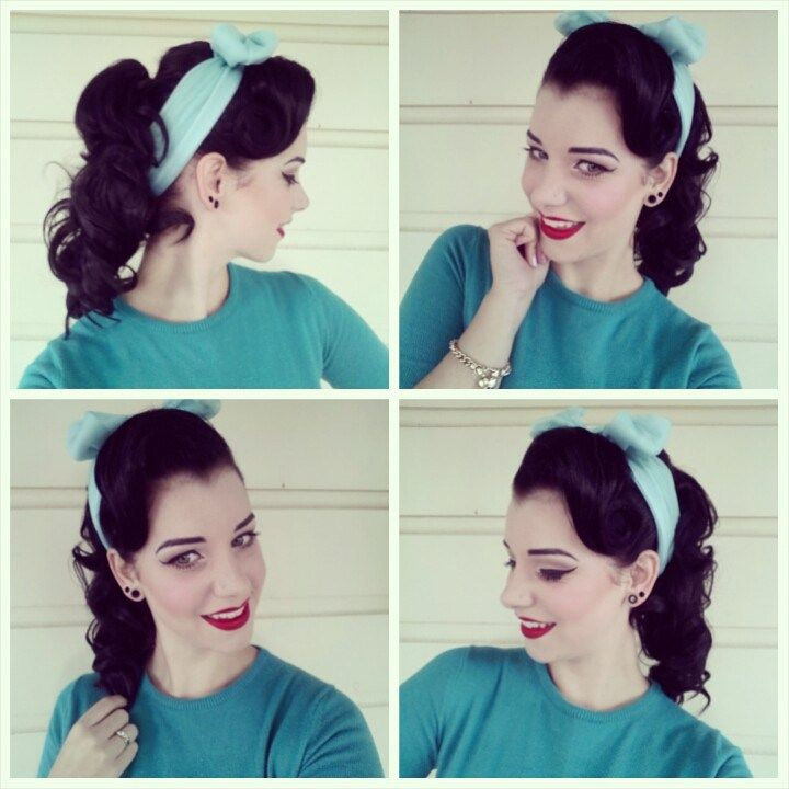 Miss Victory Violet's quick tutorial for a 50's inspired ponytail 'do!