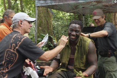 LOST season 3 set photo.  Mr. Eko