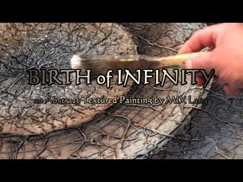 Abstract Textured 3D Metalic Painting 'Birth of Infinity' How to, Demo