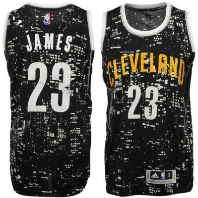 #23 Adidas Swingman LeBron James Men's Black NBA Jersey - Cleveland Cavaliers Rising Stars