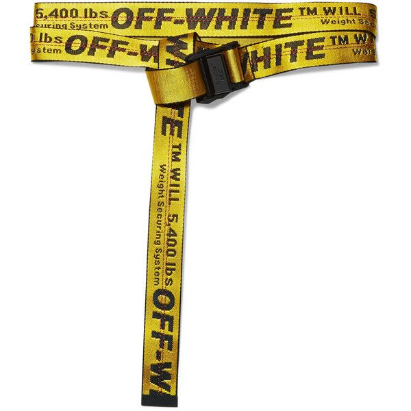 Off-White Industrial embroidered canvas belt ($175) ❤ liked on Polyvore featuring accessories, belts, wrap belts, braided belts, off white belt, woven belt and embroidered belts
