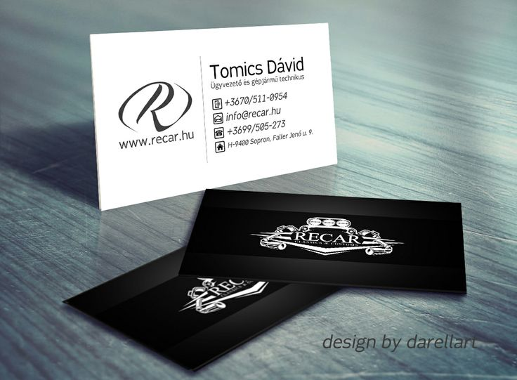 ReCar Classics and Customs name card design plan by me. ©darellart