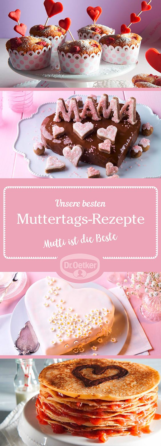 Überraschen Sie Ihre Mutter an ihrem Ehrentag doch mal mit einem selbstgebackenen Kuchen oder einem leckeren Dessert. Lassen Sie sich unseren Rezepten inspirieren.