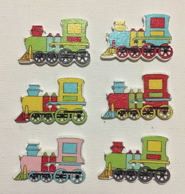A personal favourite from my Etsy shop https://www.etsy.com/au/listing/512186012/train-buttons-painted-wooden-train