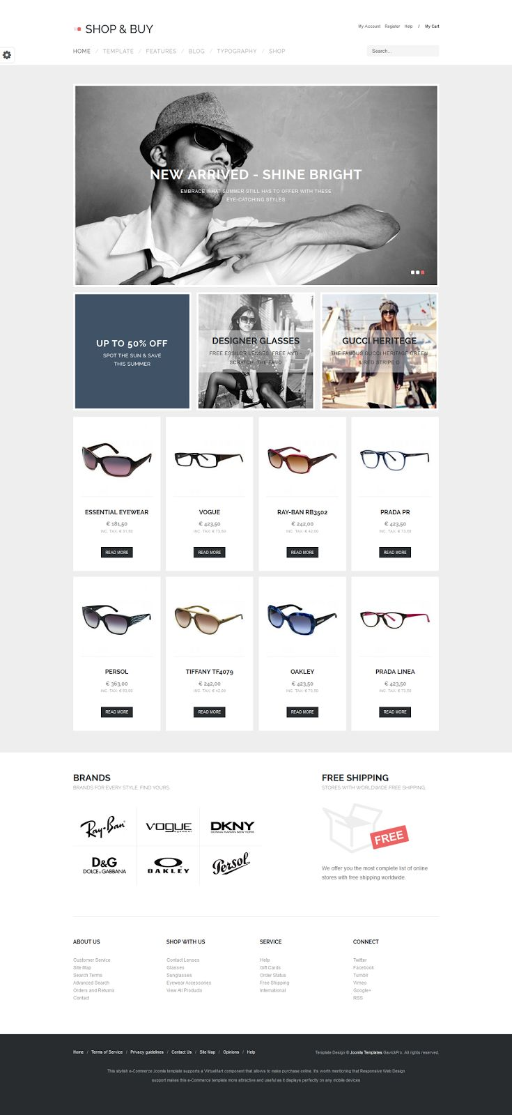 Shop & Buy is a slick sophisticated and modern e-commerce Joomla template which lets you build a successful online store. Looking for fast and lightweight e-commerce template? Seek no more - you've just found the one that is well designed and provides optimal loading time.