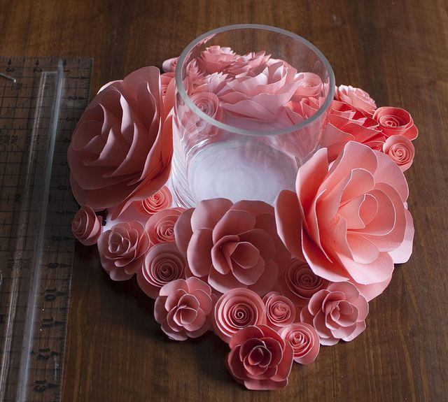 cocktail table centerpiece, with vase by rachel.grace, via Flickr