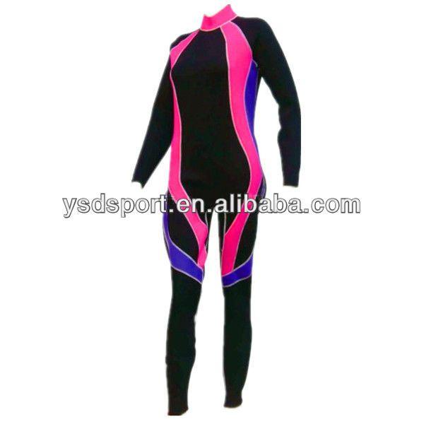 Neoprene Surfing Triathlon Wetsuit,SCR with Nylon Coating,Flatlock Stitches YSD-004