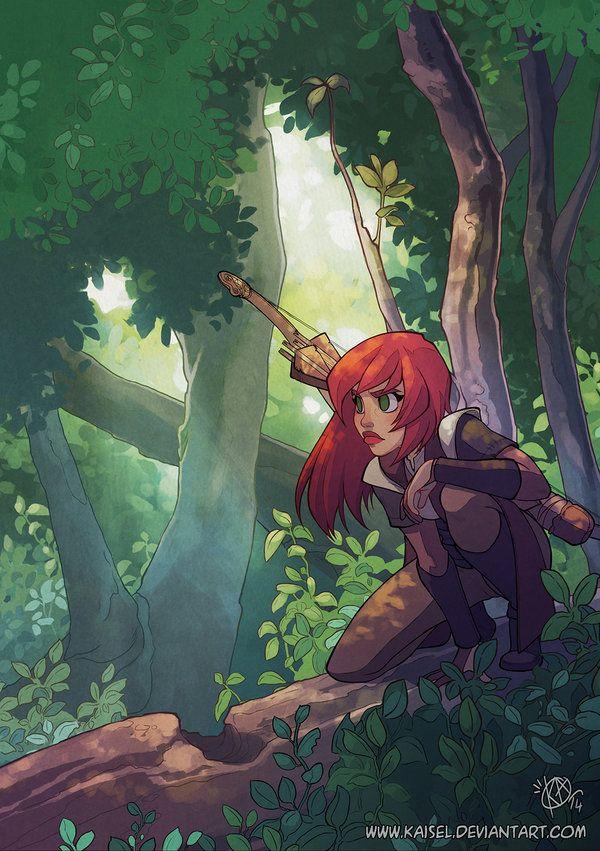 In the woods by Kaisel.deviantart.com on @DeviantArt