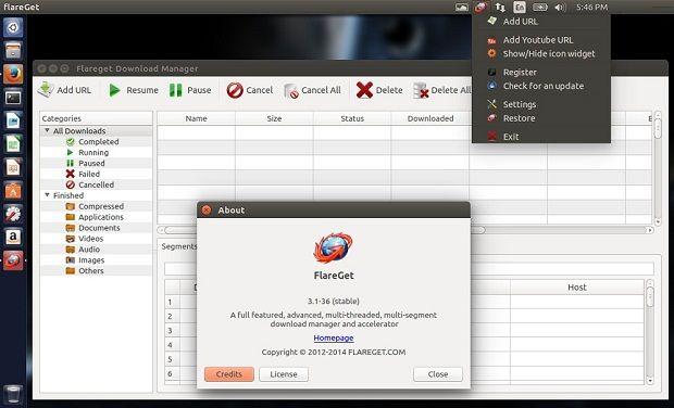 Gerenciador de download: Instale o FlareGet 3.1 no Ubuntu - Blog do Edivaldo
