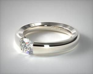 Modern Tension Engagement Rings - Mobile