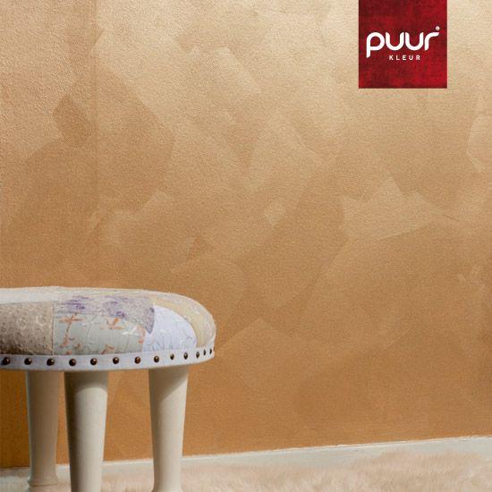 Een Blokkwast, Goudkleurige Muurverf, Muurverf Colore, Air