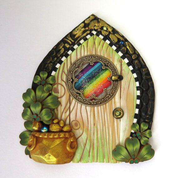61 best images about 43 tutorials st patricks for Rainbow fairy door