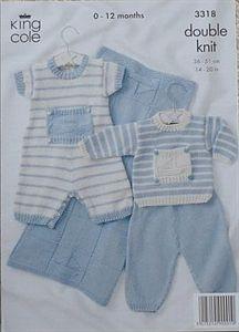 Babies Romper Suit Blanket DK knitting pattern by King Cole. £3 free postage.