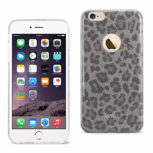 Reiko iPhone 6/6S Plus5.5inch Bumper Design TPU case Leopard Silve PC + TPU Case