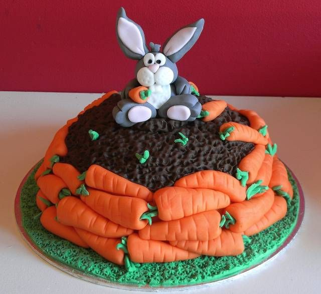 bunny and carrots cake  i couldn't make it but it is cute!: Carrot Cakes, Cakes Galore, Easter Cakes, Fancy Cakes, Kids Cakes, Decorative Cakes Cookies, Cakes Cakes, Classy Cakes, Cakes Easter