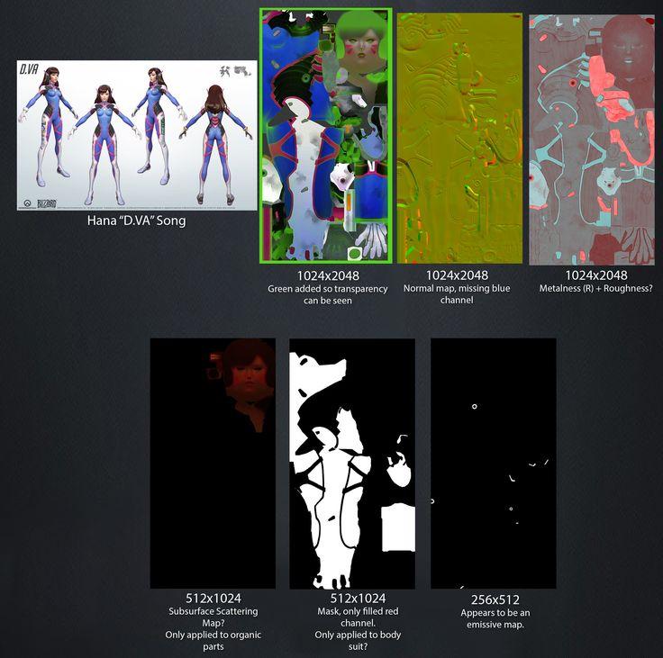Overwatch Character Design Analysis : Overwatch blizzard materials lighting textures meshes