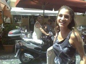 la regina Rania di giordania nel centro di Lipar