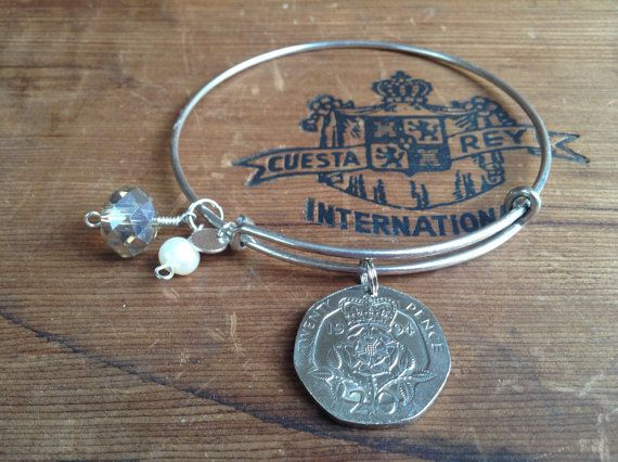 ENGLAND Alex and Ani Inspired VINTAGE 1994 20 pence by LiliyaSofia