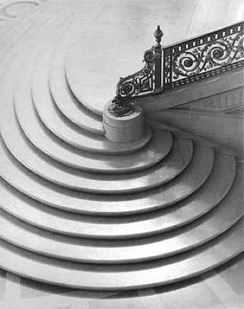 Paul Caponigro - Spiral Staircase, 1954