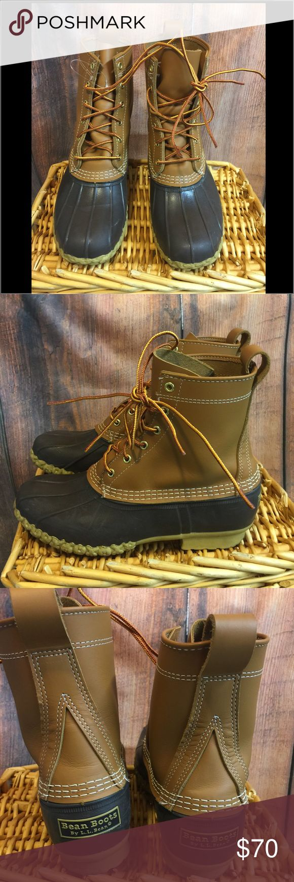 """Women's 8"""" LL Bean Boots 🌺offers welcome🌺 NWOT. 8"""" LL Bean boot.  Cannot be returned. Premium full-grain leather. Supportive steel shank and rubber chain-tread bottom provide comfort and traction. Thinsulate™ Insulation olefin/polyester in rubber bottom for extra warmth during cold snaps.  Smoke free home.  Next day shipping. Please feel free to answer any questions. Thank you for shopping my closet. Offers always welcome❤️ LL Bean Shoes Winter & Rain Boots"""
