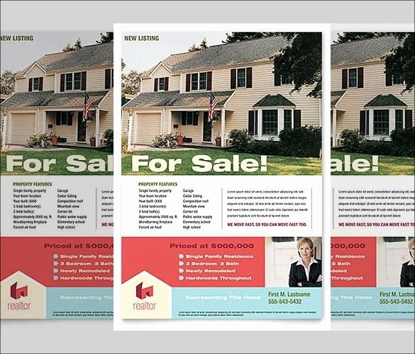 Real Estate Listing Flyer Template New