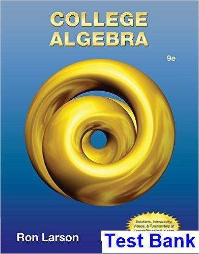 College Algebra Ron Larson Pdf