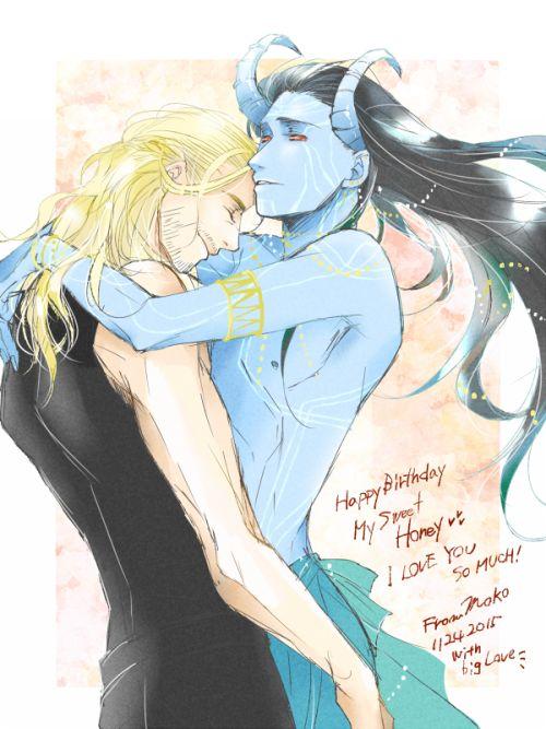 Thor & Jotun!Loki - by Godless Night