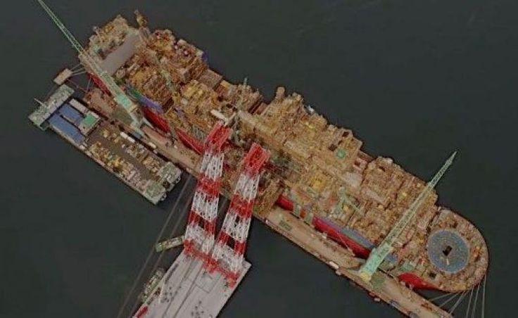 Video: Shell's Prelude FLNG Taking shape