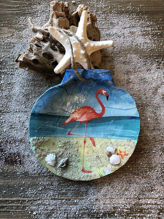 Flamingo on the beach flamingo ornament flamingo decor for Fenicottero arredamento