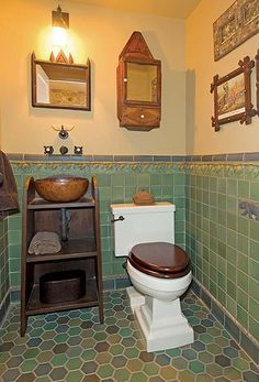 arts and craft multi colored tiled bathrooms - Google Search